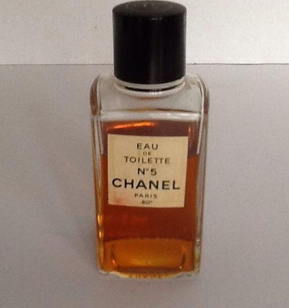 vintage chanel no 5 eau de toilette bottle 3 4 full paris. Black Bedroom Furniture Sets. Home Design Ideas