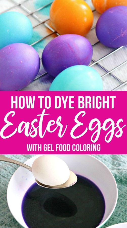 Coloring Eggs With Food Gel