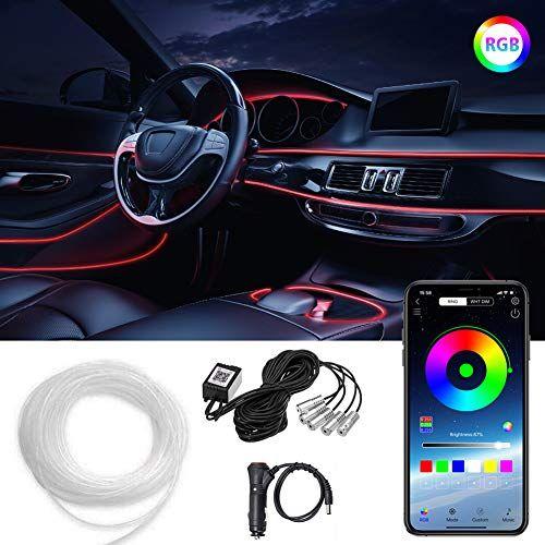 LED Car Strip Light Atmosphere Interior Wireless Bluetooth APP control