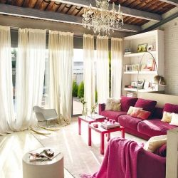 Shades of pink, whites and steel combined is an absolute eye-candy. A mixture of industrial and traditional.