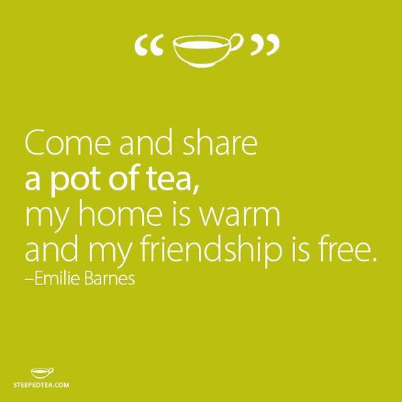 Friendship Tea Sayings : Teas friendship and pots on
