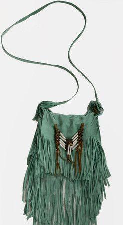 Beaded fringe cross body bohemian bag