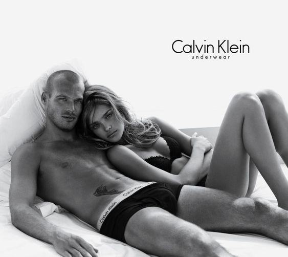 Natalia Vodianova & Fredrik Ljungberg for Calvin Klein