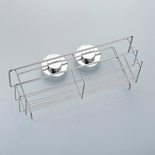 Redleafus Shower Caddy Basket Strong Suction Rust Free Stainless