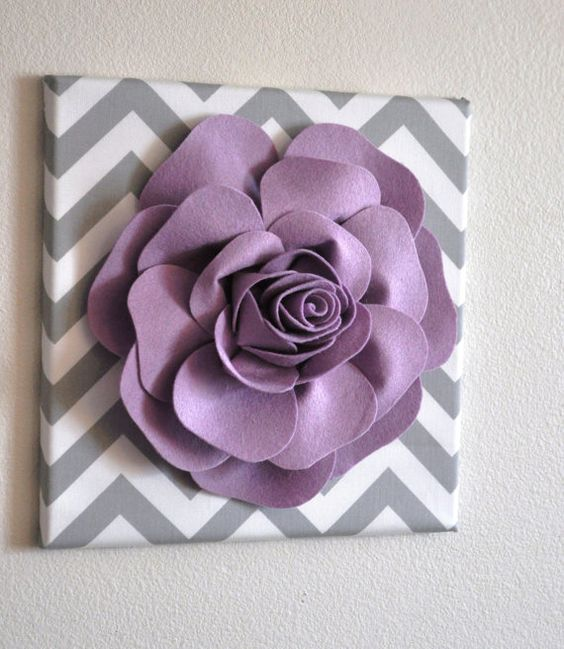 Wall Flower Decor Lilac Rose on Gray and White Chevron by bedbuggs, $34.00. need this in pillow form though.