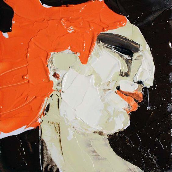 Bewegung, (Portrait #0019), 20 x 20 cm, Acryl auf der HDF-Malplatte, 2016