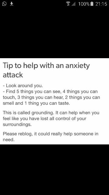 Anxiety help tips distractions during attack