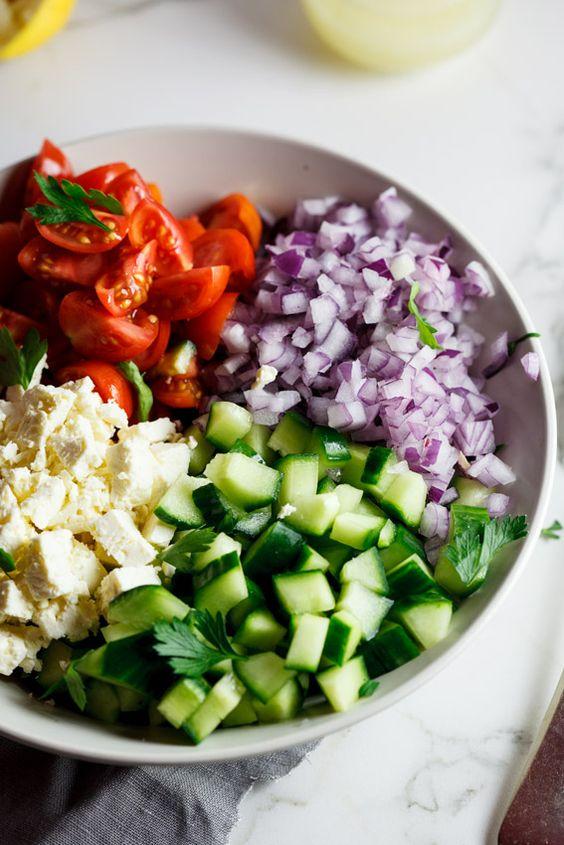 Chopped salad with lemon vinaigrette ¦ Simply Delicious