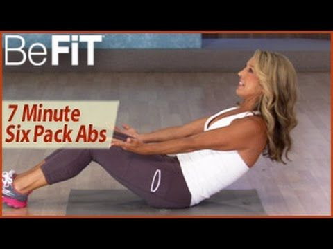 7 Min 6-Pack Abs Workout: Denise Austin- Abs, Waist & Core - YouTube
