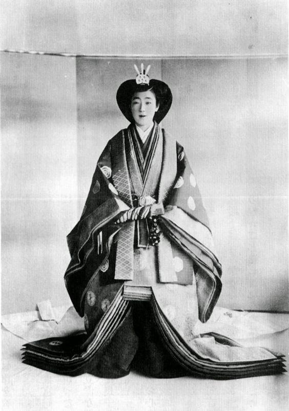 Crown Princess Nagako ;1924. Emperor Akihito's mother as a bride.