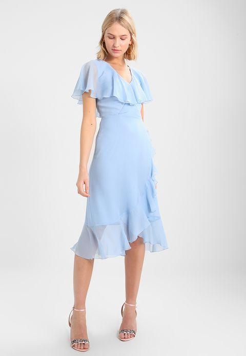 21++ Blue ruffle dress ideas
