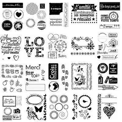 LOT TAMPONS TRANSPARENTS CLEAR SCRAPBOOKING ENCRE ENCREUR CARTE AMOUR VOYAGE DIY in Loisirs créatifs, Scrapbooking, Tampons, embossage à chaud | eBay