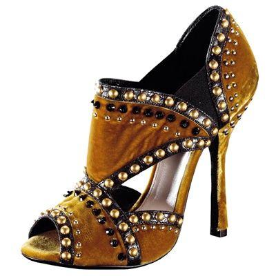 Prada shoe, open toe, studs