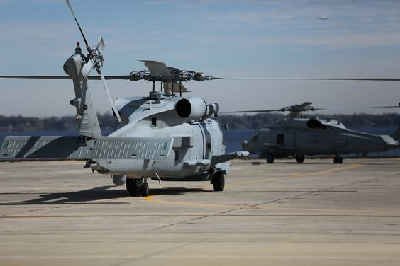 Royal Australian Navy's Sikorsky MH-60R Seahawk Romeo aircraft three and four arrive at NAS Jacksonville, Florida.