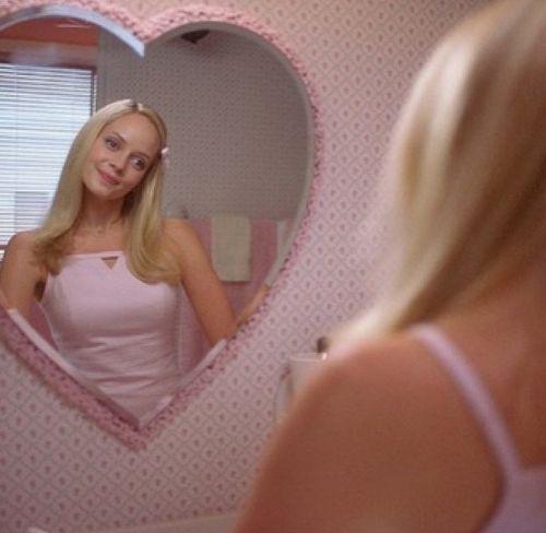鏡にえがお