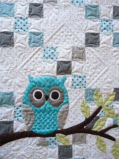 I've seen this pieced before, but never quilted quite so uniquely. Love it!