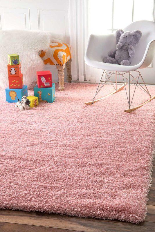 Julio Power Loom Baby Pink Rug In 2020 Pink Shag Rug Shag Rug Pink Area Rug
