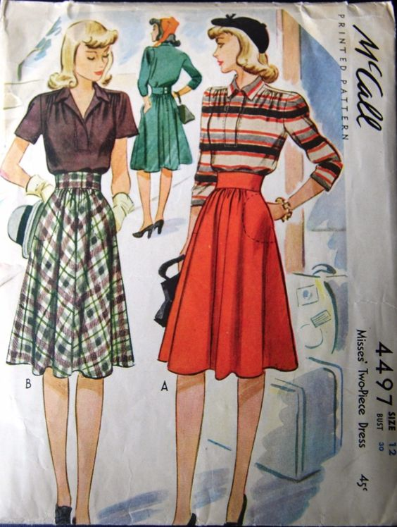 McCall 4497.  The fabric choices make all the difference.  That red and stripe version is killer. Yep. Now I shall have to look for this pattern.