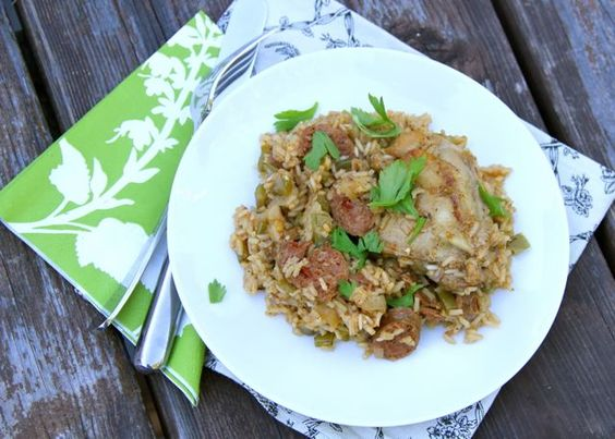 Spicy Chicken and Hot Link Jambalaya