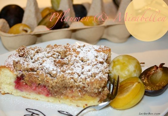 Pflaumen-Mirabellen Kuchen mit Mandel-Zimtstreusel...