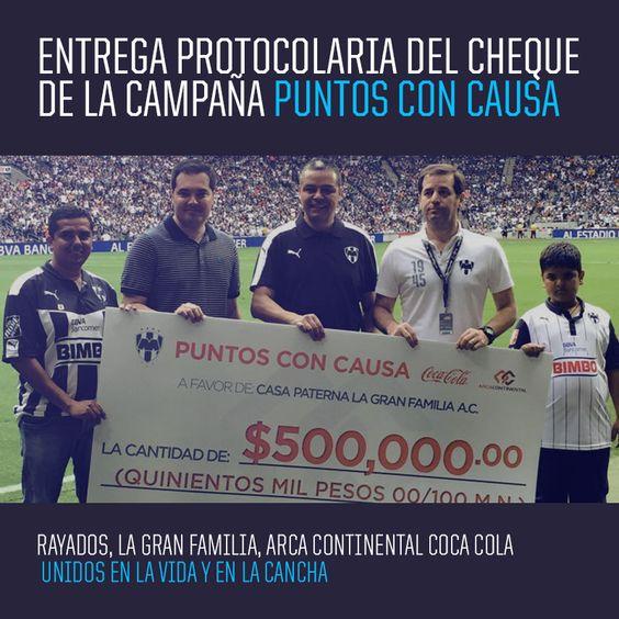 Se realizó la entrega protocolaria del cheque de la Campaña Puntos con Causa.