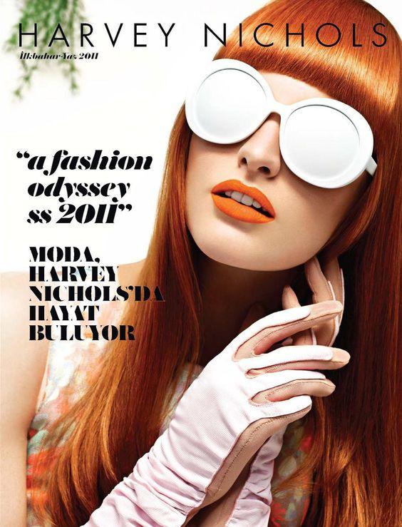 Glove Fashion: Emily Lambe in Louis Vuitton Gloves. Harvey Nichols, Spring/Summer 2011.