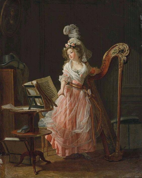 La jeune musicienne, 1788, Michel Garnier: