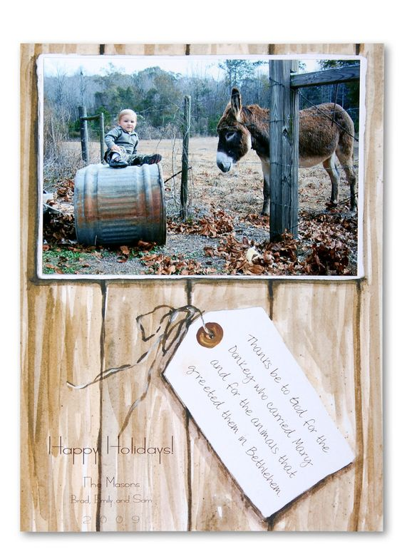 Custom Printed Wood and Tag Invitation - great for Christmas or any occasion - NO MINIMUMS