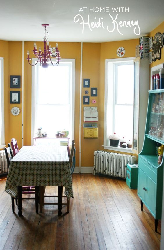 Yellow walls at home and a beautiful on pinterest for Yellow painted rooms