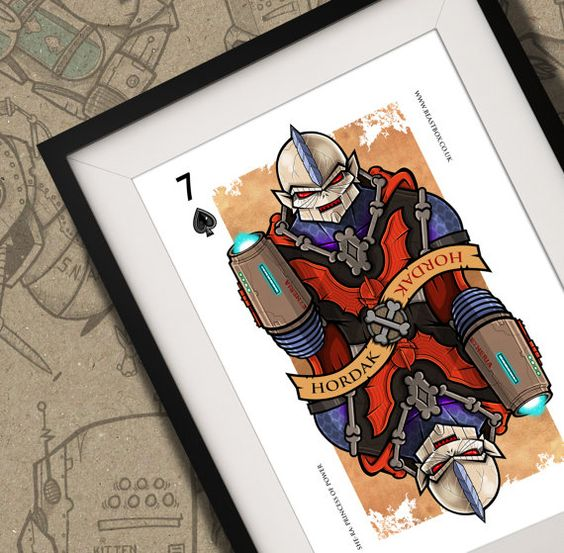 Hordak She-Ra Playing Card Print A4 by BeastBoxDesigns on Etsy