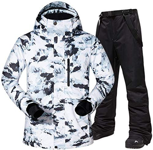 Men/'s Winter Ski Suits Snowboard Jacket Coat Waterproof Sports Pants Snowsuits