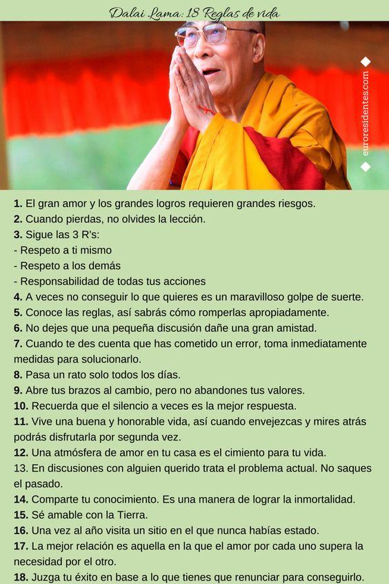 Superación Personal: Dalai Lama: 18 Reglas de vida: