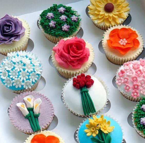 Cupcake Delicious: Flores e Cupcakes