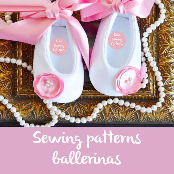 Baby girl ceremony shoesPDF PATTERNS baptism por BabyShoesShop