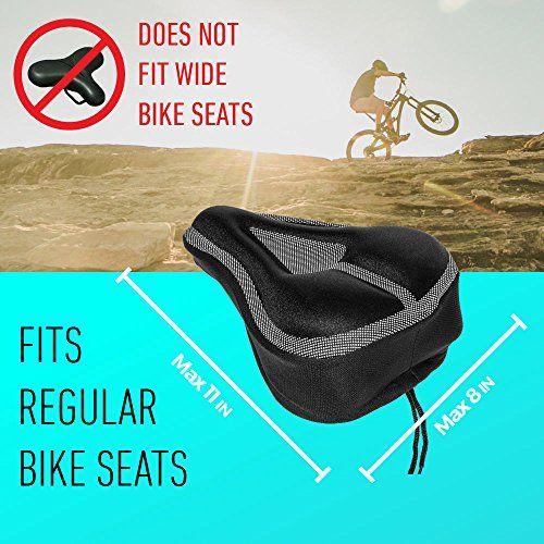 Padded Bike Seat Cushion Cover Comfortable Durable Gel Bicycle