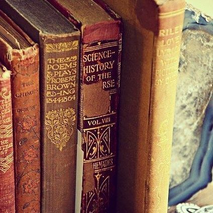 Those books are absolutely beautiful... My blog will finally come out today by maes_larson