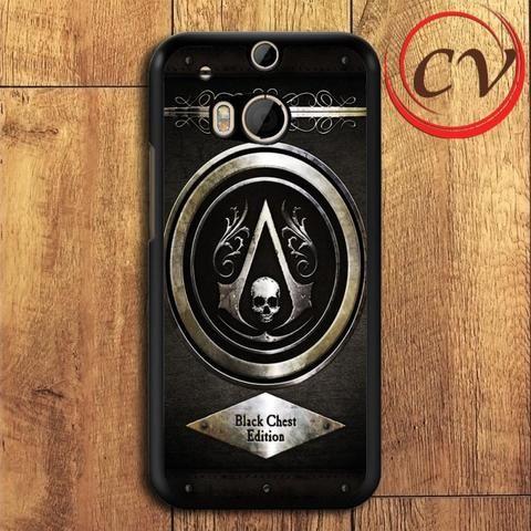 Assassins Creed Black Flag HTC One M8 Black Case