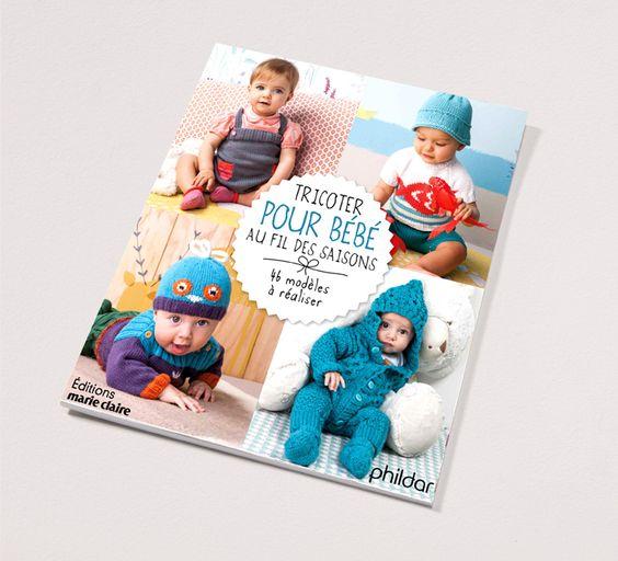 Livre tricot N°840 tricoter pour bébé - Layette - Phildar