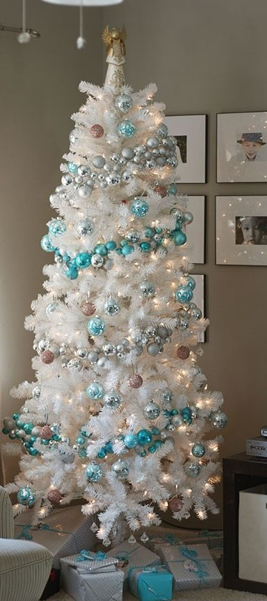 Tiffany Blue White Trees And Garlands On Pinterest