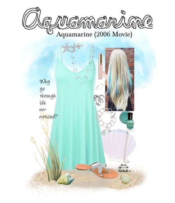 """Aquamarine (2006 Movie): Aquamarine"" by jess-nichole ❤ liked on Polyvore featuring Skinnydip, Deborah Lippmann, Michael Kors, Hueb, ASPIGA, Fremada, Beautycounter, Bling Jewelry and Kate Chell Jewellery"