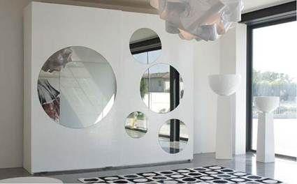 Armarios con espejos redondos