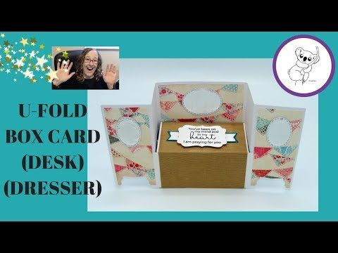 U Fold Card Tutorial Desk Card Dresser Card Work Bench Card Youtube Bench Card Fun Fold Cards Fancy Fold Cards