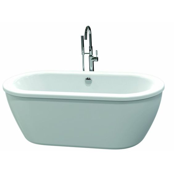 American Standard 66 In X 32 In Clean White Oval Skirted Bathtub With Back Ce