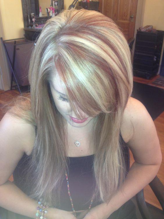 Astonishing Red Blonde Colors And Long Hair On Pinterest Short Hairstyles For Black Women Fulllsitofus