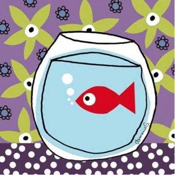 tableau enfant poisson rouge lilipinso and co pour la d co de la chambre de vos enfants. Black Bedroom Furniture Sets. Home Design Ideas