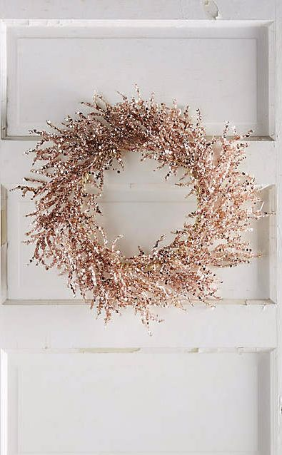 use as decor for wedding Rosy Wreath.  Simple and rustic, but classy winter wreath .