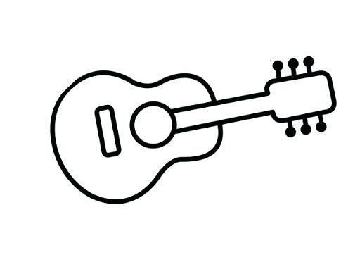 Guitarra Para Colorear Guitarra De Coco La Pelicula Para