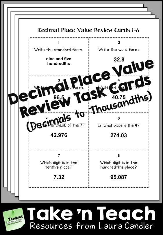 decimal place value games pdf