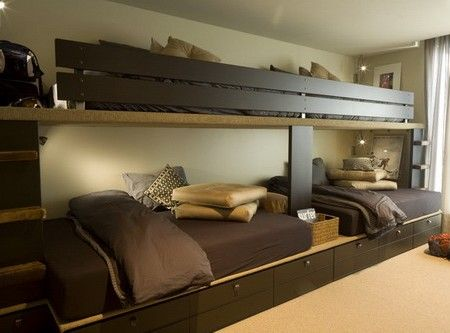 Double Bed with Wooden Headboard and Side Tables with Night Stands ...