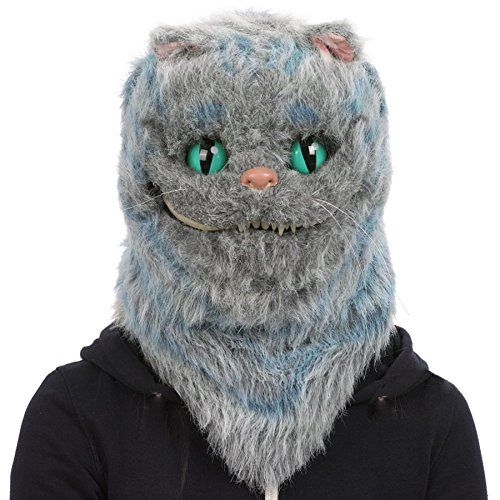 Coolchange Realistische Voll Tier Maske Katze Tier Vollmaske Mit Beweglicher Schnauze Aussenhulle Aus Flauschigem Polyestergewebe Mi Tiere Realistisch Masken